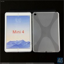 Shenzhen wholesale price for ipad mini 4 plastic case with x line
