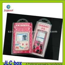 clear pvc box with hanging hole for Apple ipod nano silicone case