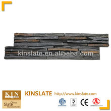 Natural Rusty/Multicolor Mixed with Black Slate interior wall panels