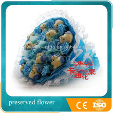 2015 new birthday gift for kids plush toy 11 bears artificial bouquet decoration wedding table