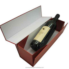 Foldable Single Bottle Wine Cardboard Boxes With Matte Lamination