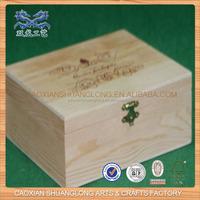 2014 New Designed Wholesale Natural Unfinishd Cheap Wood Box Rounded Corners