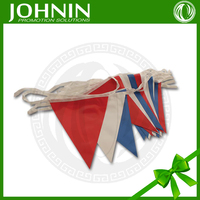 advertising professional promotional customized colorful vinyl PE flag bunting