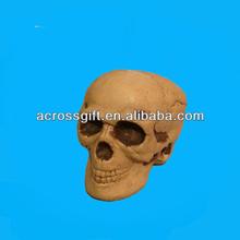 artificial resin halloween skull