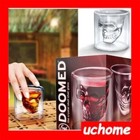 UCHOME Creative Crystal Head Shot Glass /Whisky skull cup suit/ skull cup