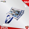 fabric custom made white blue handle well selling pp woven bag