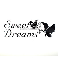 Special Offer Fashion Design New SWEET DREAMS Butterfly Vinyl Quote Wall Sticker Decal For Home Decor Hot Sale