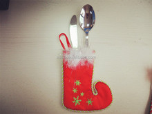 Popular professional Christmas cutlery holder /fashion christmas stocking