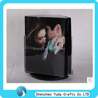 acrylic 3-sided table display acrylic menu holder black rotation display a4 file holder