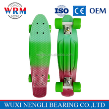 "China supplier Graphic series Fade 22"" Custom Skateboard, tricolor mini cruiser longboard"