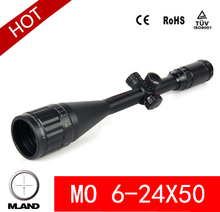 Mland 6-25x50 Mil-dot Red & Green Illuminated Rifle Scope,red and green laser sight hunting riflescope