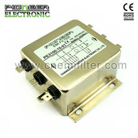 10A 5KW PLC 3 Phase Mains filter, power generator power filter, electrical 3 phase EMI filter