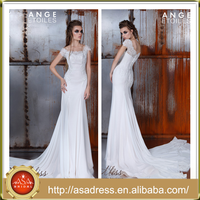 AE-17 High Quality Lace Applique Beaded Bodice Formal Bride Wedding Dresses 2016 Off Shoulder Long Train Gown Vestido Longo