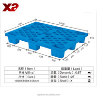 Water & weather resistant (won't absorb water), won't warp, dent, chip, splinter, rot or rust plastic pallet