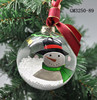 Hanging glass ball christmas decoration with pattern on the surface