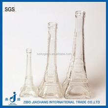 clear eiffel tower glass jar bottle for flower or artwork