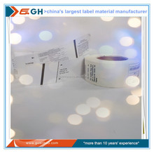 self adhesive laminated thermal paper for baggage tag in airline and railway