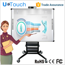 USB linking 85 inch Aluminium alloy electronic whiteboard with 2 touch points for teaching,meeting,training center