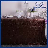 SQ023B Many colors available Custom made beaded metalic brown chocolate sequin table cloths