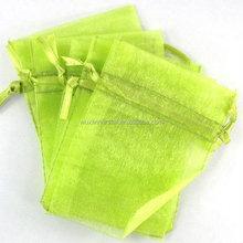 beautiful light green organza pouch