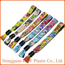 factory direct sale new customized plastic snap bracelet plastic clip woven wristband,party city wristbands with plastic lock