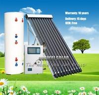 Double Coilers Water Tank Split Pressurized Solar Water Heater Price