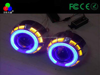 Beautiful in colors and Superior quality for H1 H4 H7 dual color angel eyes hid bi xenon projector lens for your selection