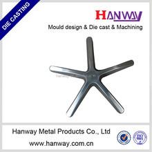 metal die casting five leg chair base