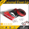 90inch Universal Front Bumper Lip for Sedan Coupe Saloon With Black Flexible Rubber Material
