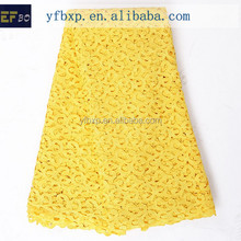 "2016 cord embroidery designs high quality swiss lace/ 51-52"" polyester material 2015 lace fabric/ yellow cord lace for girl dres"