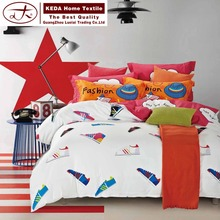 Your own brand home textile 4pcs bedding set sheet bed set cotton printed 3d quilt bedsheet