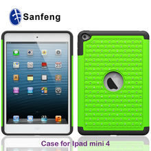Soft Silicone Protective Cases Crystal Rhinestone Covers Cases For iPAD MINI 4