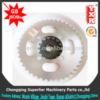 Professional produce motorcycle transmission gears,CG 125 TITAN 99 sprocket,420 and 428 industrial roller chain sprocket