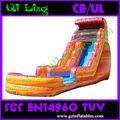 Gigante inflable tobogan con piscina de chapoteo inflable de diapositivas en venta