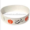 venta caliente de promoción y de moda pulsera tyvek para halloween