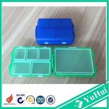 Plastic metal pill box/pill case for travel
