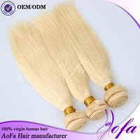 Good luster top quality 100% virgin human hair 22 inch blonde hair weaving