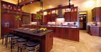 Modern E1 standard melamine veneer kitchen cabinets