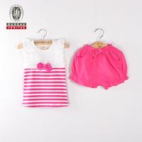 Kid clothes 2012 plain t shirt and short pant baby set clothing