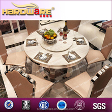 marble round dining table / stone top dining tables / marble top rotating dining table