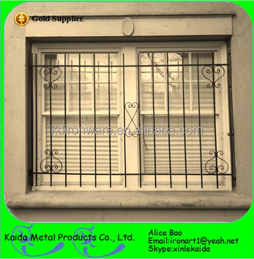 Iron window grill design metal window grills design product on alibaba - Beautiful Ornamental Wrought Iron Door Window Grill Design