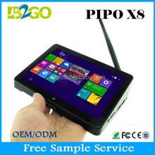 New Arriva PIPO X8 Smart TV Box Dual Boot/OS Mini PC Win 8.1+Android 4.4 Intel Z3736F Quad Core 2G+32G BT set-top box