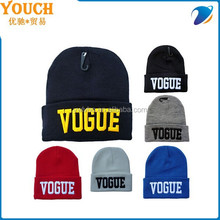 Supply Youch 2015 Promotion Embroidered Men Women Winter Knit Beanie Hat----Best Sellers