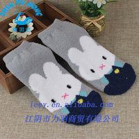Kids Cartoon Animal Terry Winter Shoe, Crew Indoor Cotton Socks OEM Factory