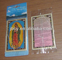 new hanging paper air freshener with religious theme