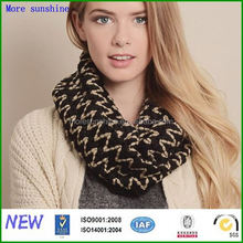 knitted scarf thick wave winter scarf