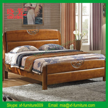New product furniture China supplier carved solid indian wood double bed designs (XFW-676)