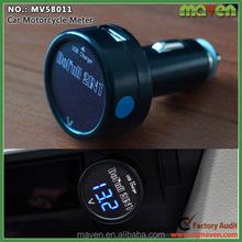 LED Display Car Digital Voltmeter For Auto Truck Voltage Meter USB Power Outlet MV58011