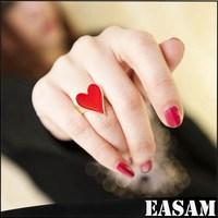Novelty Design Expandable Poker Ring,Enamel Red heart ring