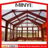 Shanghai hot design Garden Triangle roof aluminum frame storm proof sun glass garden room